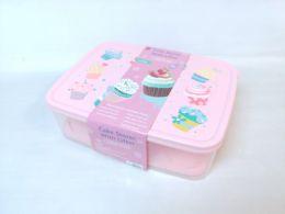 12 Wholesale Pl. Cake/cup Cake Storage Box Rect 6st/cs