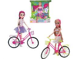 24 Units of Beauty Doll Play Set with Bike - Dolls