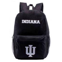 "24 Units of Indiana University Bulk Backpacks In Black - Backpacks 17"""