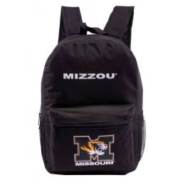 """24 Units of Missouri University Bulk Backpacks In Black - Backpacks 17"""""""
