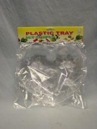 48 Units of Plastic Tray, 2pc (heart) Design 48st/cs - Kitchen & Dining