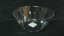 48 Units of Pl. Clear Tray Rd. Diag. Lines 36pc/cs - Plastic Tableware