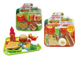 36 Units of Food Play Set (2 Asstd.) - Toy Sets