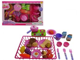 18 Units of Kitchen Set with dish Drainer - Toy Sets