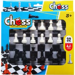48 Bulk 32pc Chess Play Set In Pegable Window Box