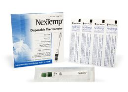 2000 Units of Nextemp (standard) SinglE-Use Clinical Thermometer Disposable Individually Wrapped Fahrenheit - Hygiene Gear