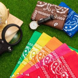 Bandanas - Assorted Colors 100% Cotton 22 X 22 Inch