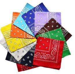 Assorted Cotton Paisley Bandana Mixed Prints, Mixed Colors Bulk Bandannas