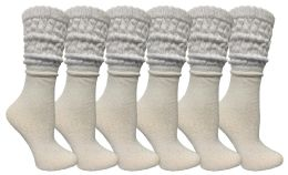 Yacht & Smith Women's Slouch Socks Size 9-11 Solid White Color Boot Socks