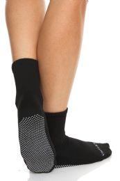 24 Units of Yacht & Smith Multi Purpose Diabetic Black Rubber Silicone Gripper Bottom Slipper Sock Size 9-11 - Womens Slipper Sock
