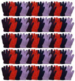 72 Bulk Yacht & Smtih Womens Assorted Colors Warm Fuzzy Gloves