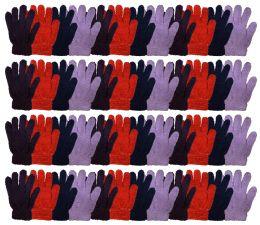 48 Bulk Yacht & Smtih Womens Assorted Colors Warm Fuzzy Gloves