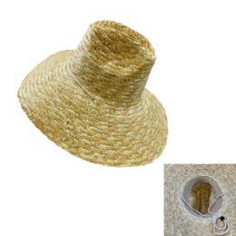 24 Wholesale Large Brim Straw Hat