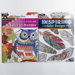 48 Units of Coloring Book Adult Random - Coloring & Activity Books