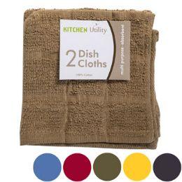72 Units of Kitchen Dish Cloth 2pk 12x12 - Kitchen Linens