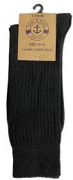 24 of Yacht & Smith Mens Black Dress Socks, Sock Size 10-13 Cotton Ribbed Classic Dress Sock