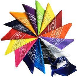 Yacht & Smith Assorted Colors Cotton Paisley Bandana, Bulk Scarf Headband Handkerchiefs