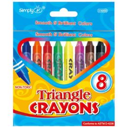 144 Wholesale 8 Count Triangle Crayons