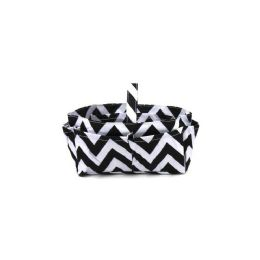 120 Units of Handbag / Cosmetic Organizer Chevron White/black - Cosmetic Cases