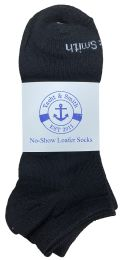 480 Units of Yacht & Smith Mens 97% Cotton Low Cut No Show Loafer Socks Size 10-13 Solid Black - Men's Socks for Homeless and Charity