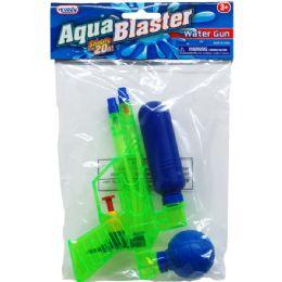 """48 Units of 6.75"""" Water Gun In Poly Bag W/ Header, 3 Assrt Clrs - Water Guns"""