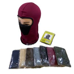 48 Units of Ninja Face Mask Solid With Mesh Front - Face Mask