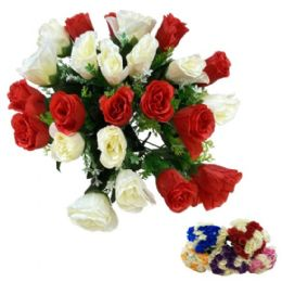 24 Units of Roses In Two Colors - Artificial Flowers