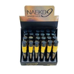 72 Bulk Black Waterproof Mascara Black With Gold Tube