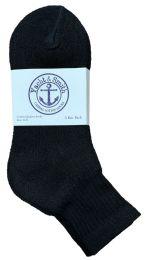 240 Units of Yacht & Smith Women's Cotton Ankle Socks Black Size 9-11 Bulk Pack - Women's Socks for Homeless and Charity