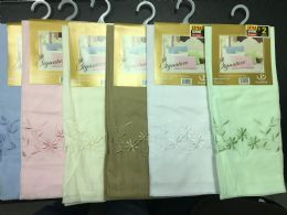 36 Units of Embroidery Single Pack Pillowcase Assorted - Pillow Cases