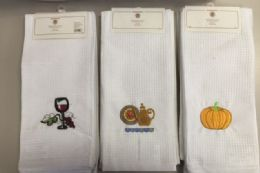 36 Units of Embroidery Kitchen Towel Set Of 3 Assorted - Kitchen Towels