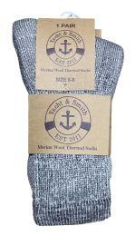 24 Units of Yacht & Smith Kids Merino Wool Thermal Winter Camping Boot Socks - Boys Crew Sock