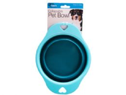 18 Wholesale Collapsible Pet Bowl W/heart