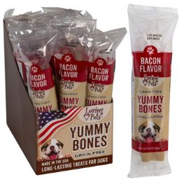 15 of Dog Treats Bacon Flavor Stick 2.8 Oz In Cnt Dsply Made In Usa GraiN-Free Yummy Bones