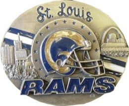 6 Units of Saint Louis Rams Belt Buckle - Belt Buckles