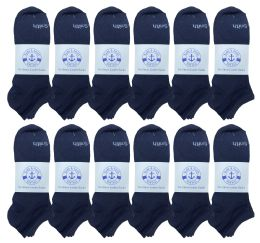 240 Units of Yacht & Smith Mens Comfortable Lightweight Breathable No Show Sports Ankle Socks, Solid Navy Bulk Buy - Men's Socks for Homeless and Charity