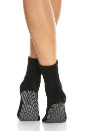 120 Units of Yacht & Smith Multi Purpose Diabetic Black Rubber Silicone Gripper Bottom Slipper Sock Size 9-11 Bulk Buy - Women's Socks for Homeless and Charity