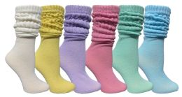 Yacht & Smith Women's Slouch Socks Size 9-11 Assorted Pastel Color Boot Socks