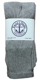 240 Units of Yacht & Smith Women's Cotton Tube Socks, Referee Style, Size 9-15 Solid Gray Bulk Pack - Women's Socks for Homeless and Charity