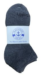240 Units of Yacht & Smith Kids Unisex Low Cut No Show Loafer Socks Size 6-8 Solid Gray Bulk Buy - Kids Socks for Homeless and Charity