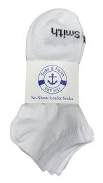240 Units of Yacht & Smith Kids Unisex Low Cut No Show Loafer Socks Size 6-8 Solid White Bulk Buy - Kids Socks for Homeless and Charity