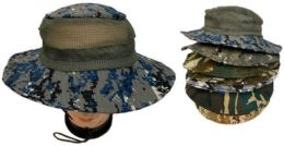 48 Wholesale Floppy Boonie Hat With Mesh