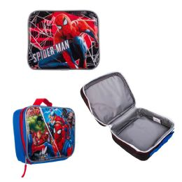 """24 Units of 9"""" Insulated Spider Man Lunch Coolers - Lunch Bags & Accessories"""