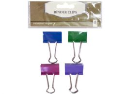 144 Wholesale Four Pack Binder Clips