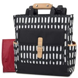 12 Wholesale Baby Essentials Tote Convertible Backpack Black