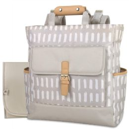 12 Wholesale Baby Essentials Tote Convertible Backpack Grey