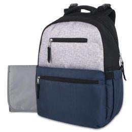 12 Wholesale Baby Essentials Diaper Backpack - Navy