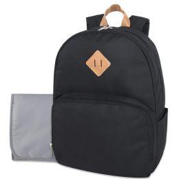 12 Wholesale Baby Essentials Diaper Backpack Black