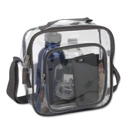 24 Units of Clear Toiletry Bag In Grey - Cosmetic Cases