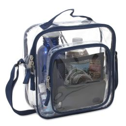 24 Units of Clear Toiletry Bag In Navy - Cosmetic Cases